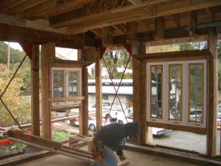 [Framing of Master bedroom straw bale walls]