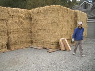[Part of the straw bale delivery]