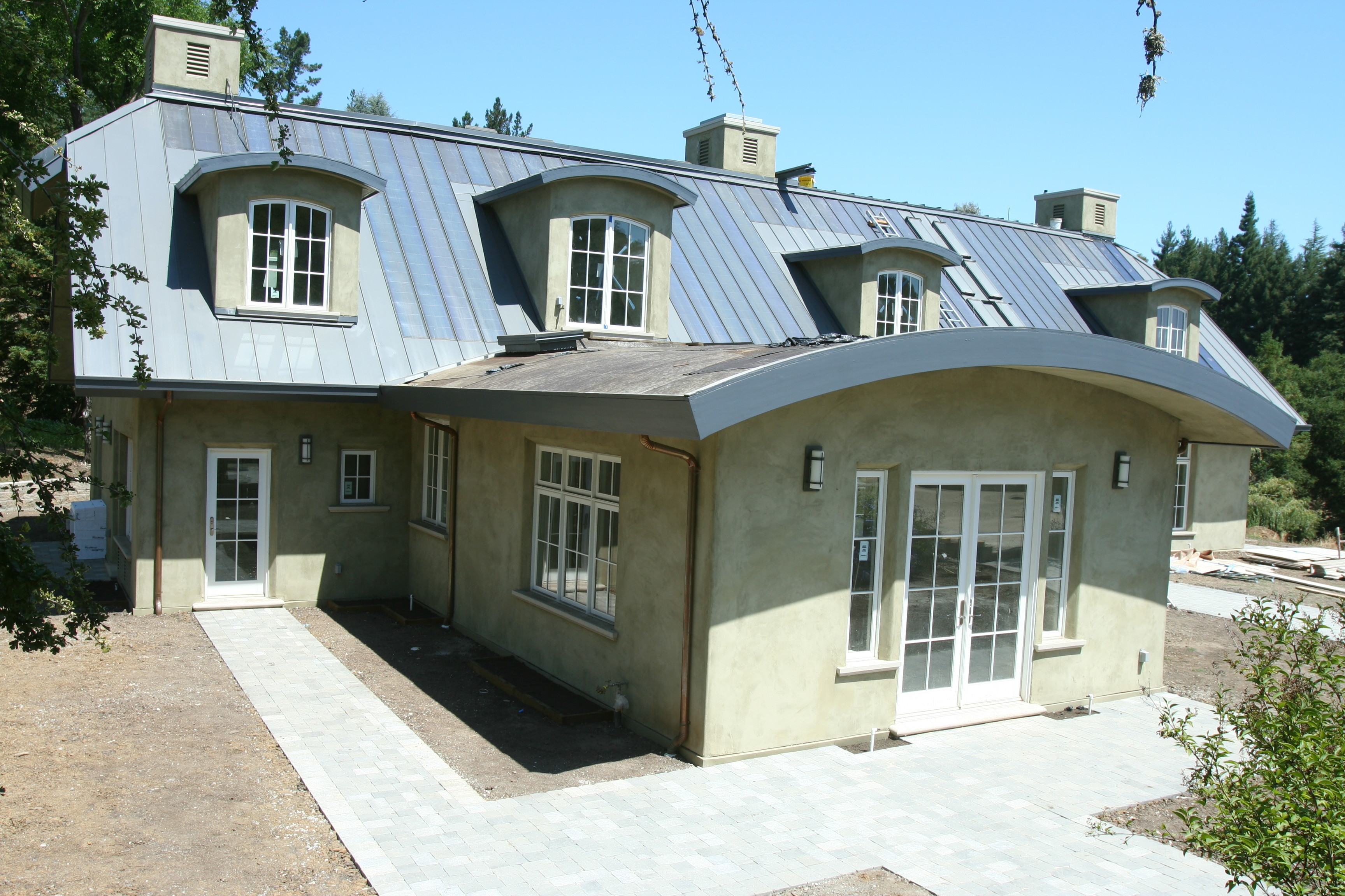 Uni Solar PVL On A House Metal Roof In California