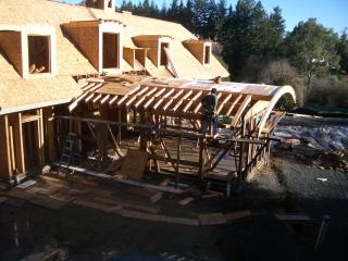 [Family room living roof framing]
